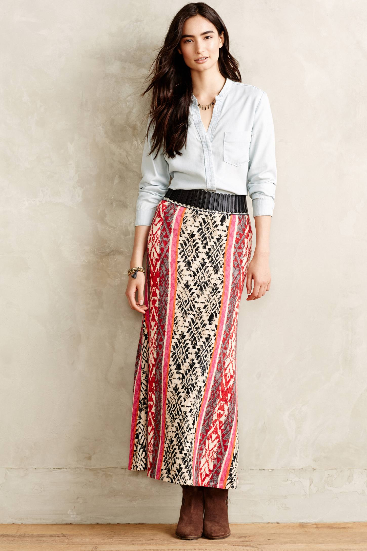 Vanessa virginia Fairisle Sweater Skirt in Red | Lyst
