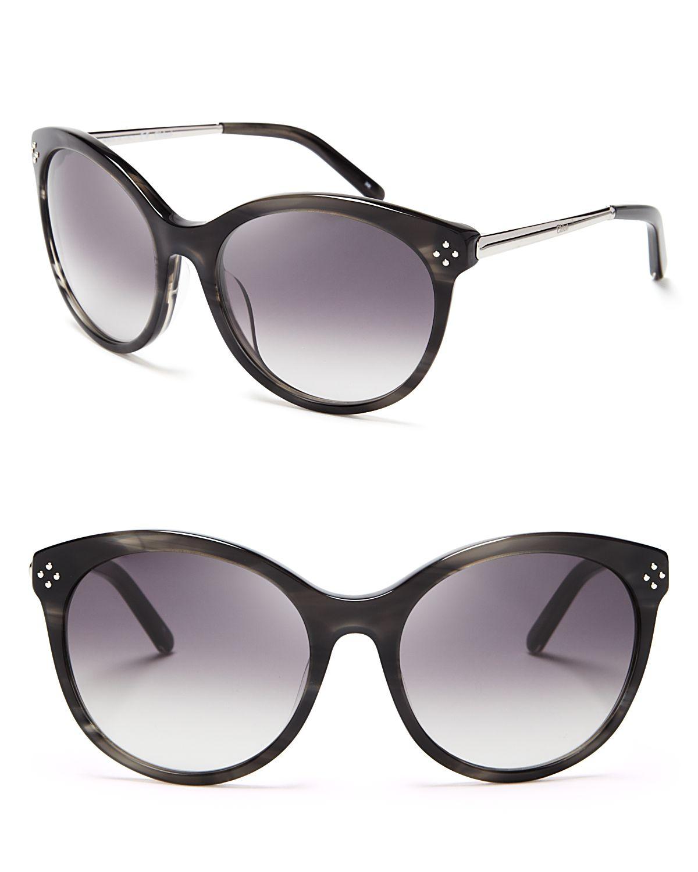 f7150afa808 Chloé Boxwood Rounded Cat Eye Sunglasses in Gray - Lyst