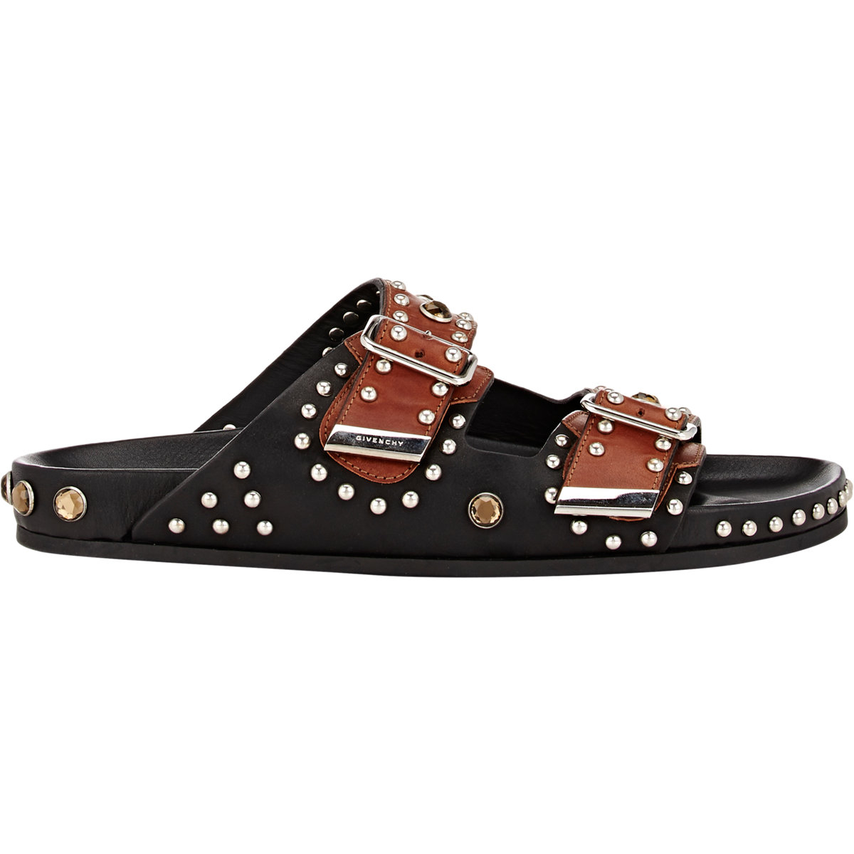 2c6721fc6587 Givenchy Studded Double-buckle Sandals in Black for Men - Lyst