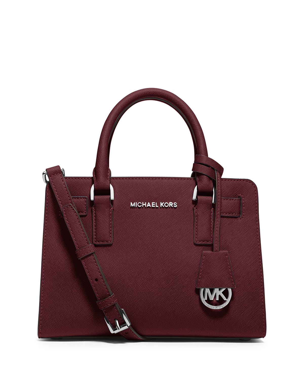 521156cd7f03 MICHAEL Michael Kors Dillon Small Leather Satchel Bag in Red - Lyst