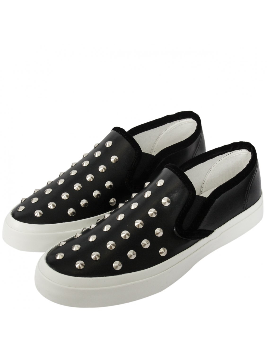 junya watanabe womens studded slip on shoes black in black