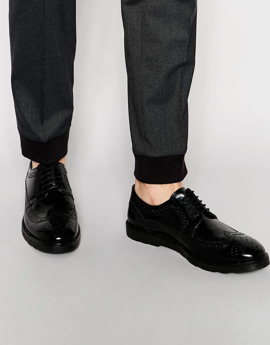d5cab8ab34b0 For Lyst Shoes Men In Brogue Leather Asos Black qPqUYw