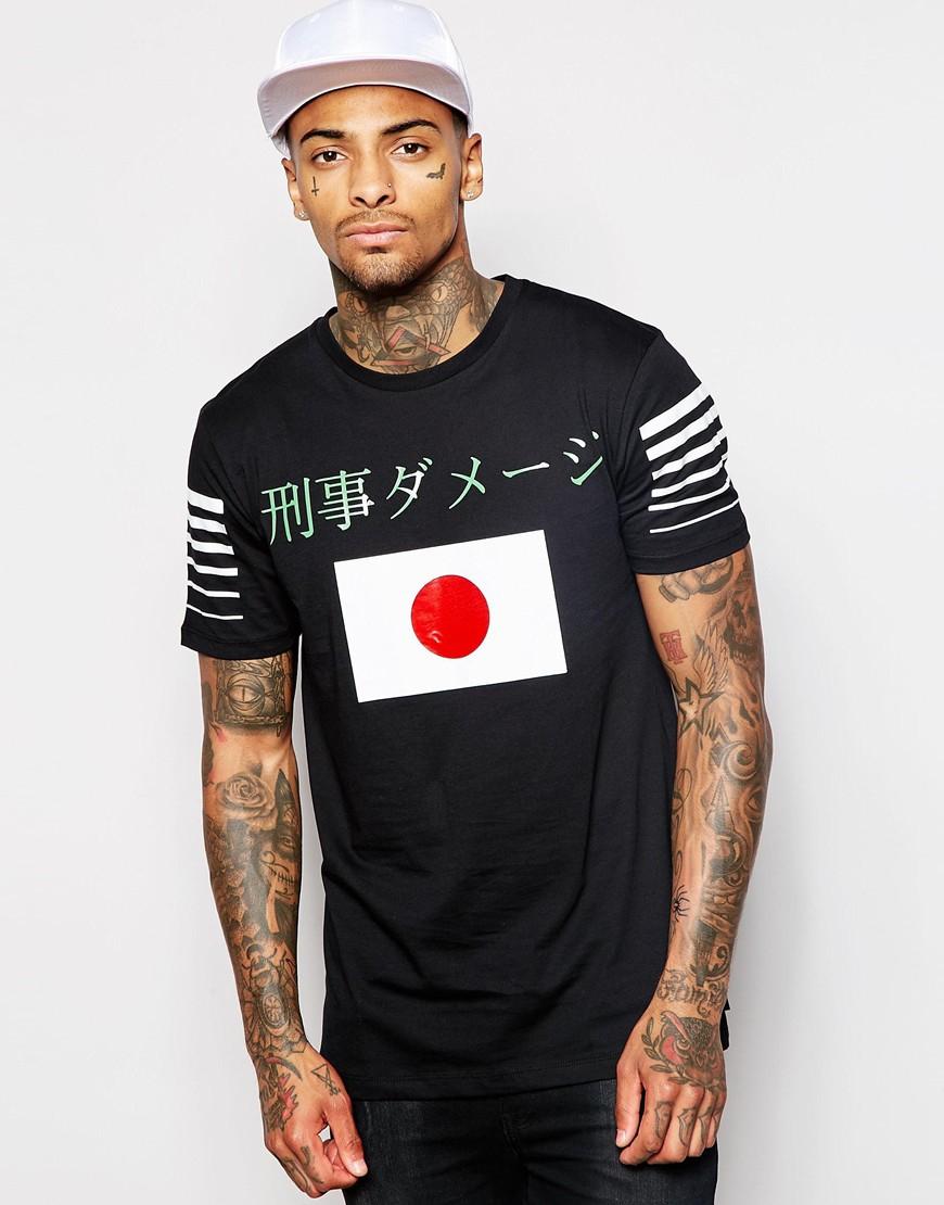 criminal damage japan t shirt in black for men lyst. Black Bedroom Furniture Sets. Home Design Ideas