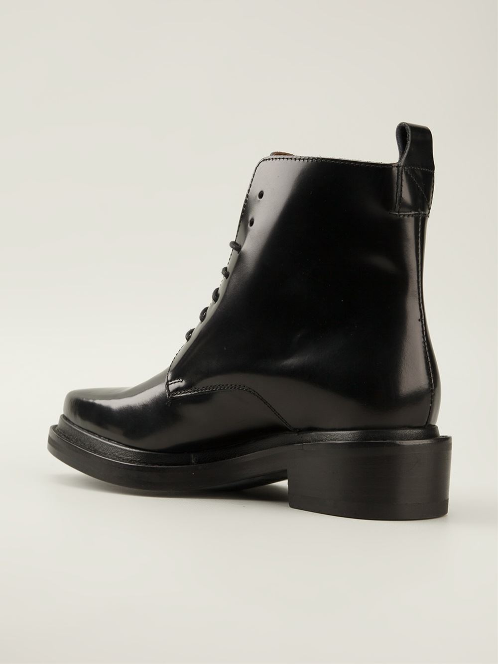 lyst acne studios linden ankle boots in black. Black Bedroom Furniture Sets. Home Design Ideas