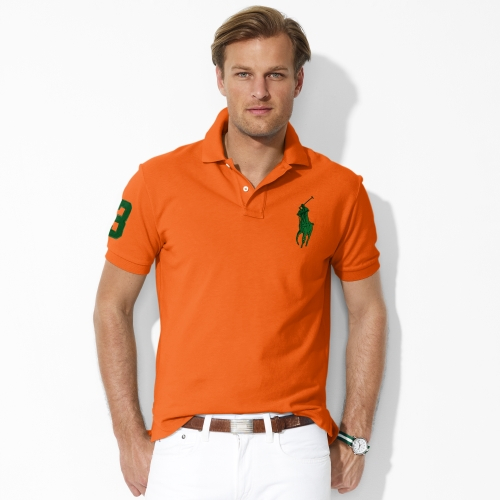 Ralph Lauren Men\\u0026#39;s Big Pony Polo Orange Green -