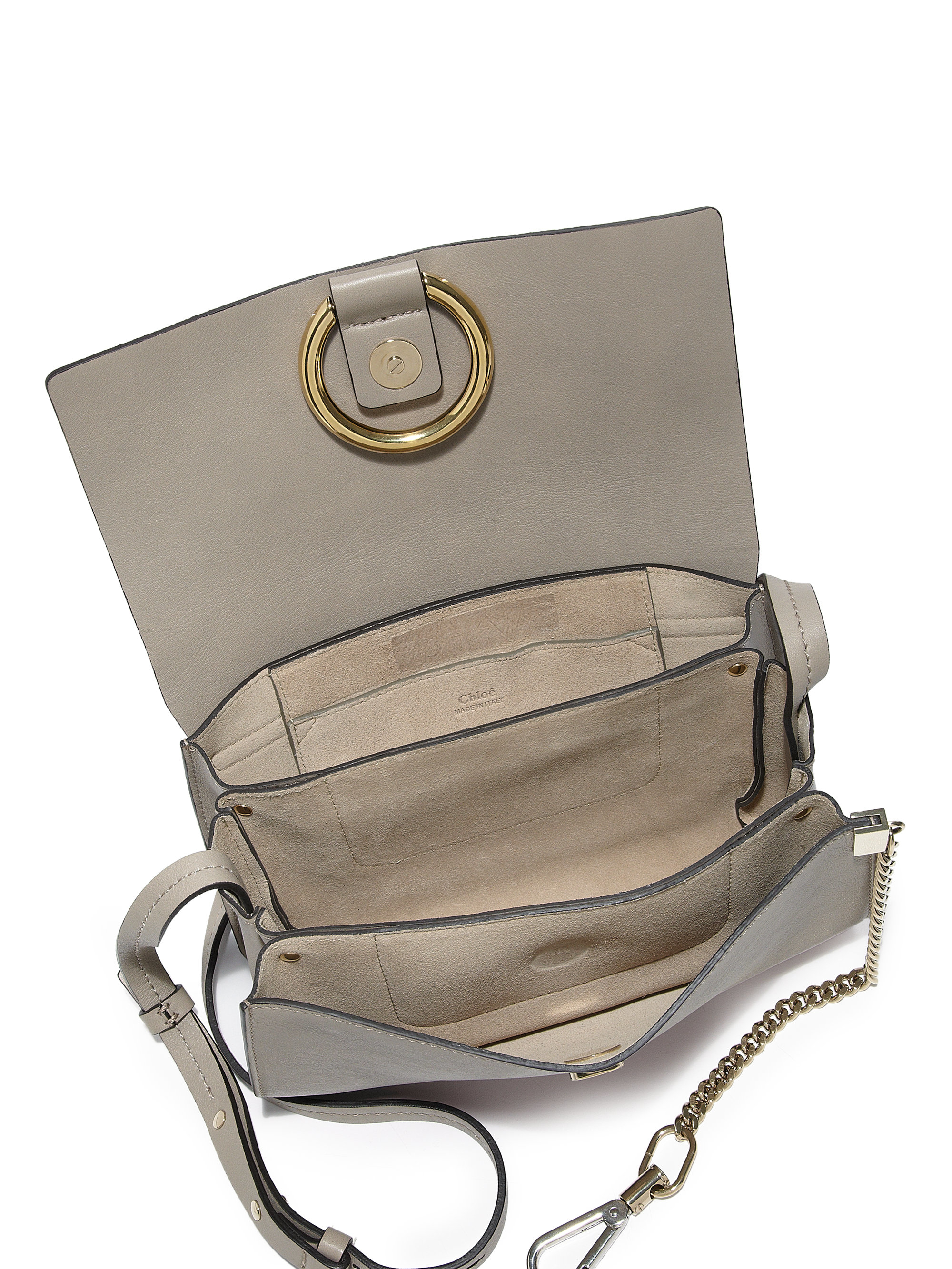 FAYE BAG IN SMOOTH CALFSKIN AND SUEDE CALFSKIN