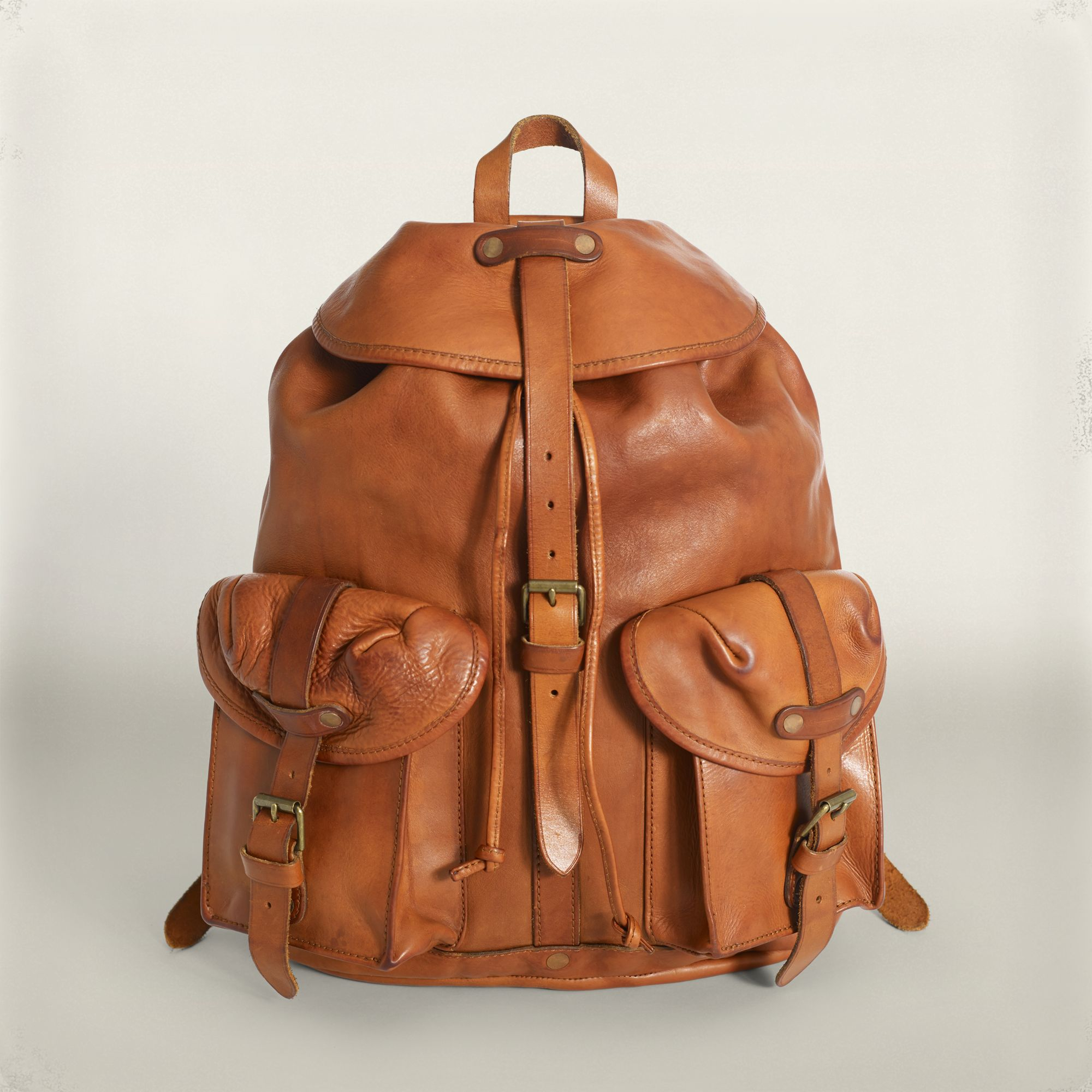 09fd1f79a9 RRL Leather Riley Rucksack in Brown for Men - Lyst