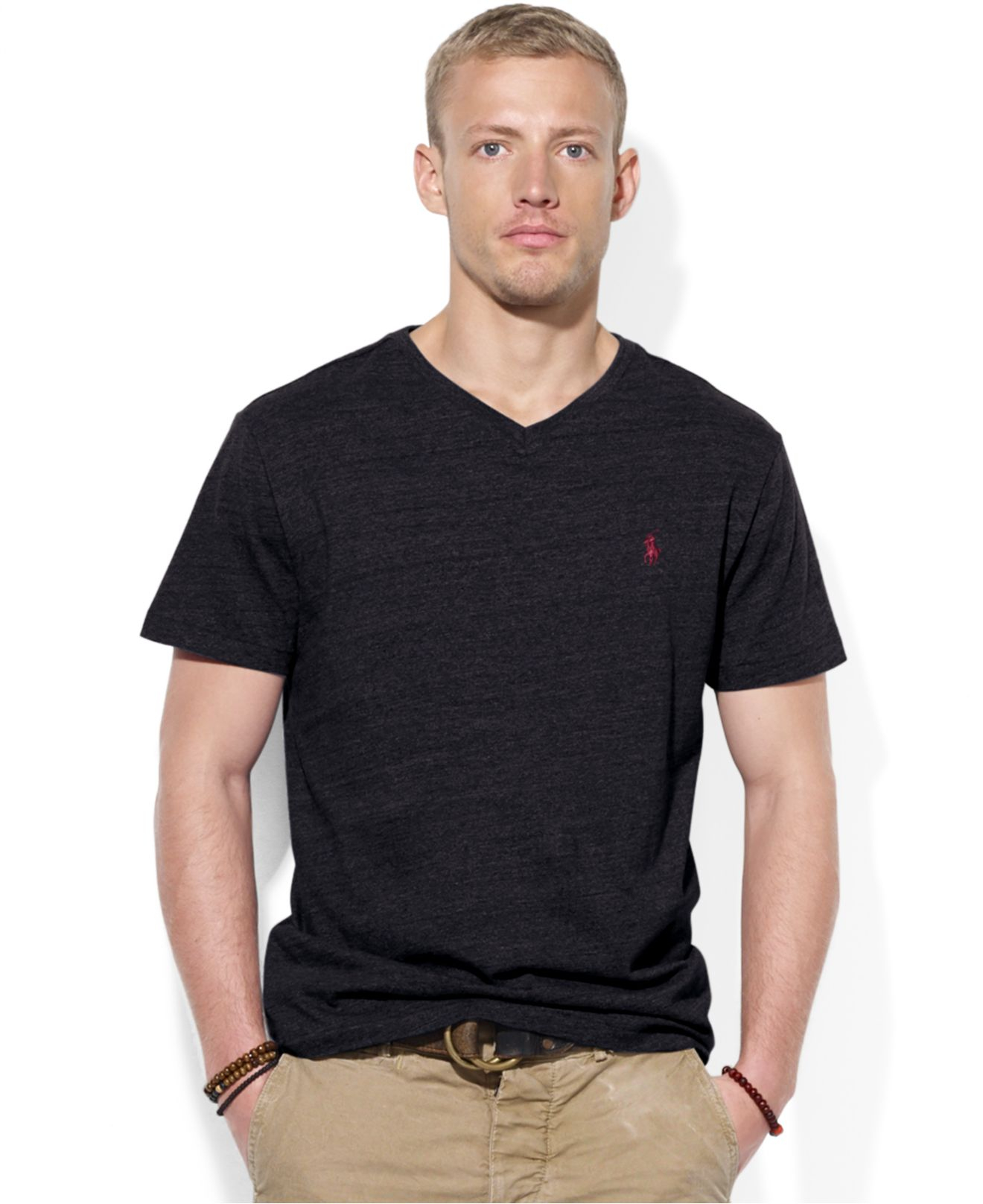 Lyst Polo Ralph Lauren Jersey V Neck T Shirt In Black