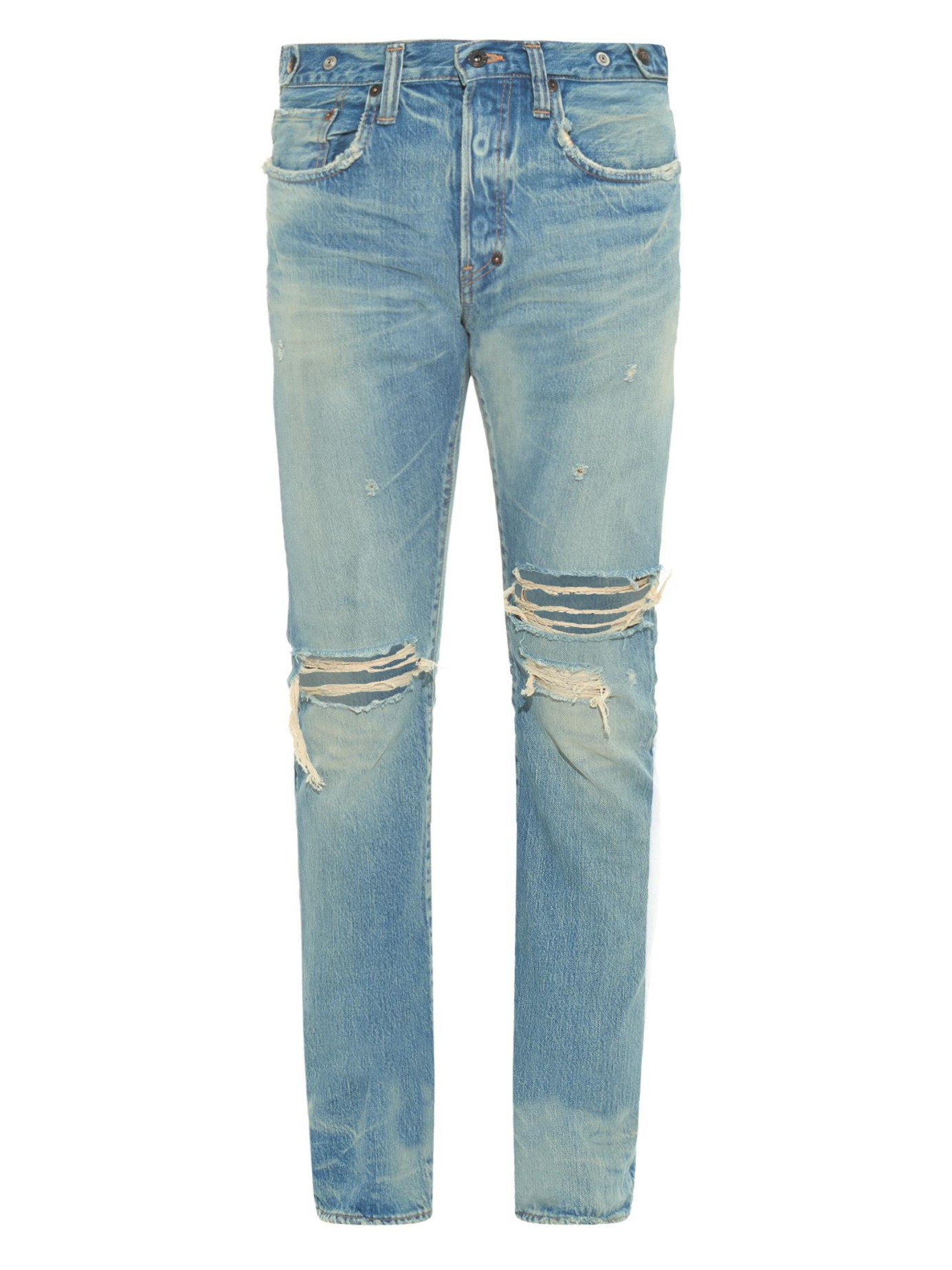Prps Fury Fit Ripped Light Wash Jeans In Blue For Men Lyst