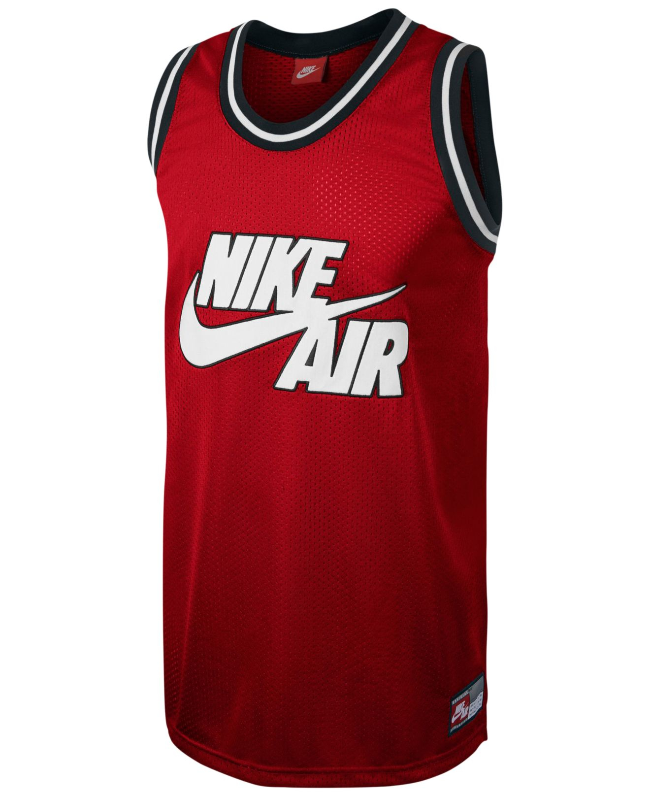 Nike Retro Logo Graphic Basketball Jersey in Red for Men ...