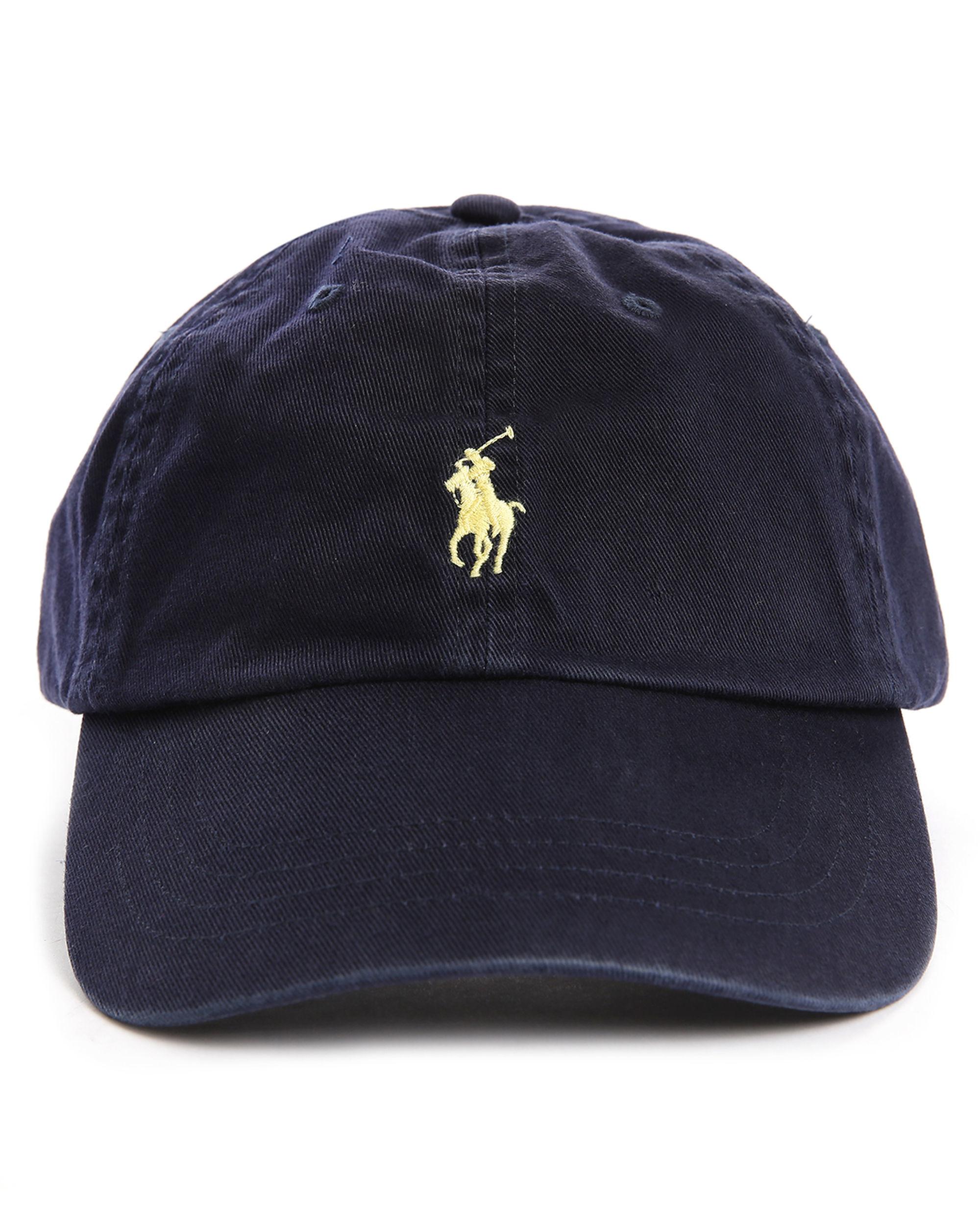 polo ralph lauren logo embroidered cotton cap in blue for men lyst. Black Bedroom Furniture Sets. Home Design Ideas