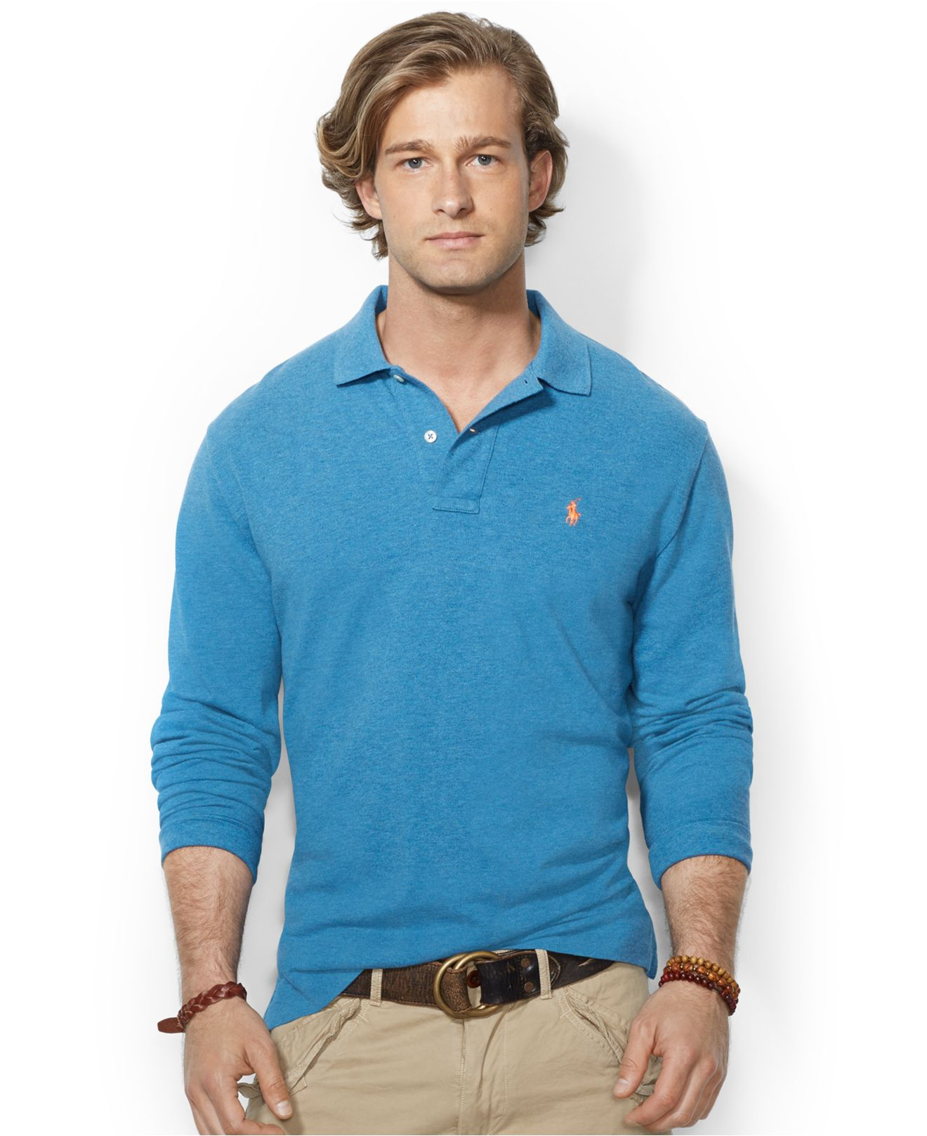Polo Ralph Lauren | Blue Classic-Fit Mesh Polo for Men | Lyst. View Fullscreen