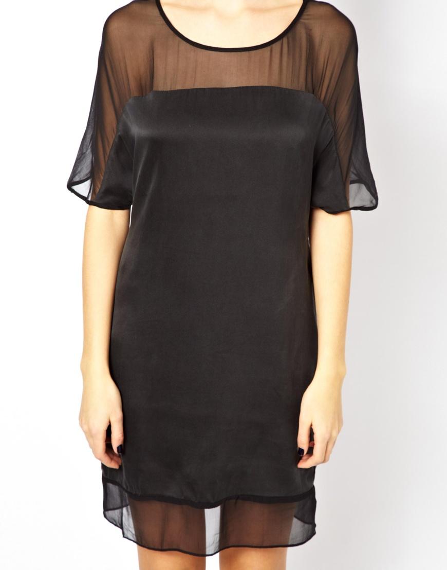 Aryn k black dress