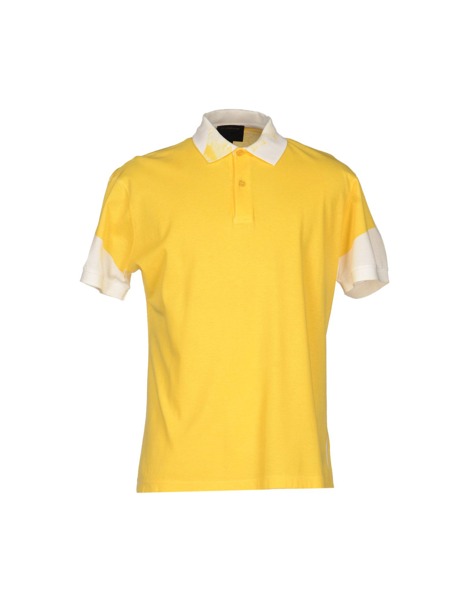 Class Roberto Cavalli Polo Shirt In Yellow For Men