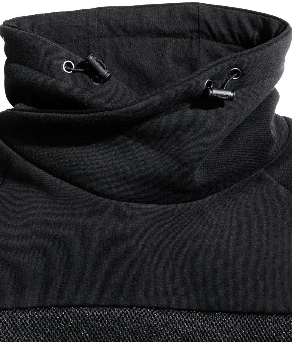 Chimney Collar Hoodie Mens