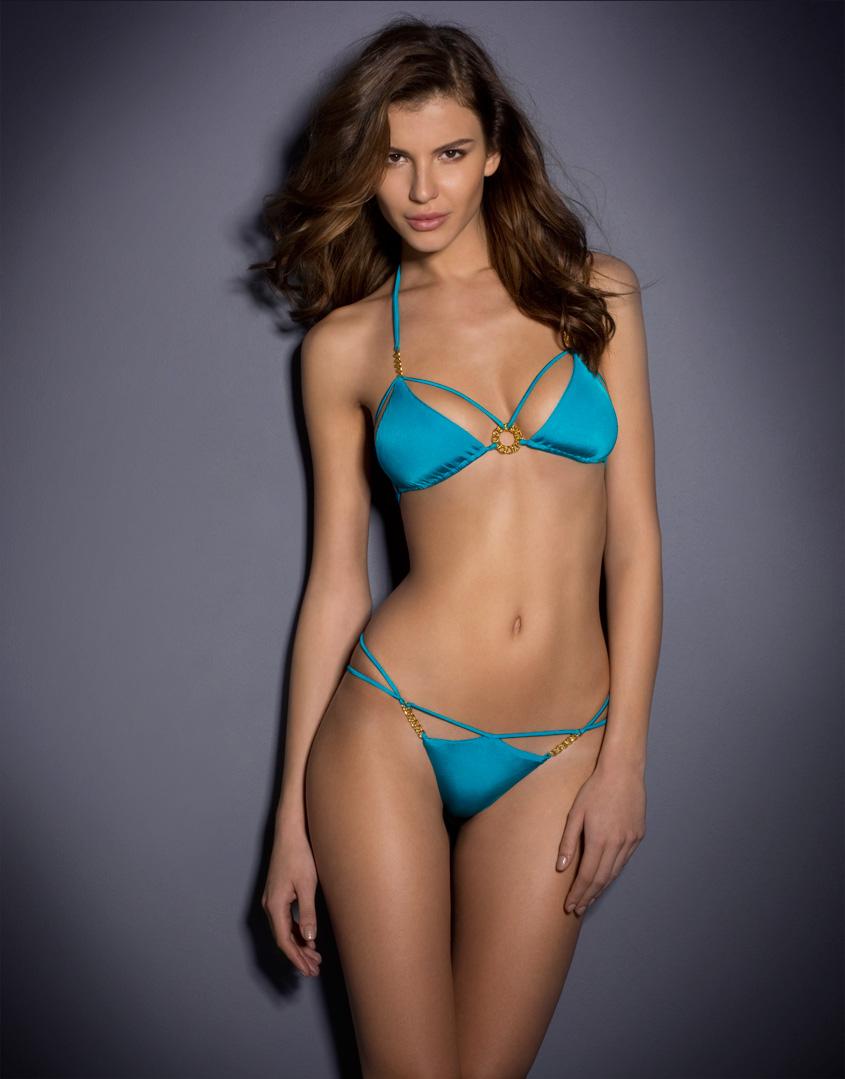 0e3c96f0ca Agent Provocateur Cee-Cee Bikini Brief in Blue - Lyst