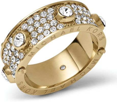 Michael Kors Pave Astor Ring in Gold