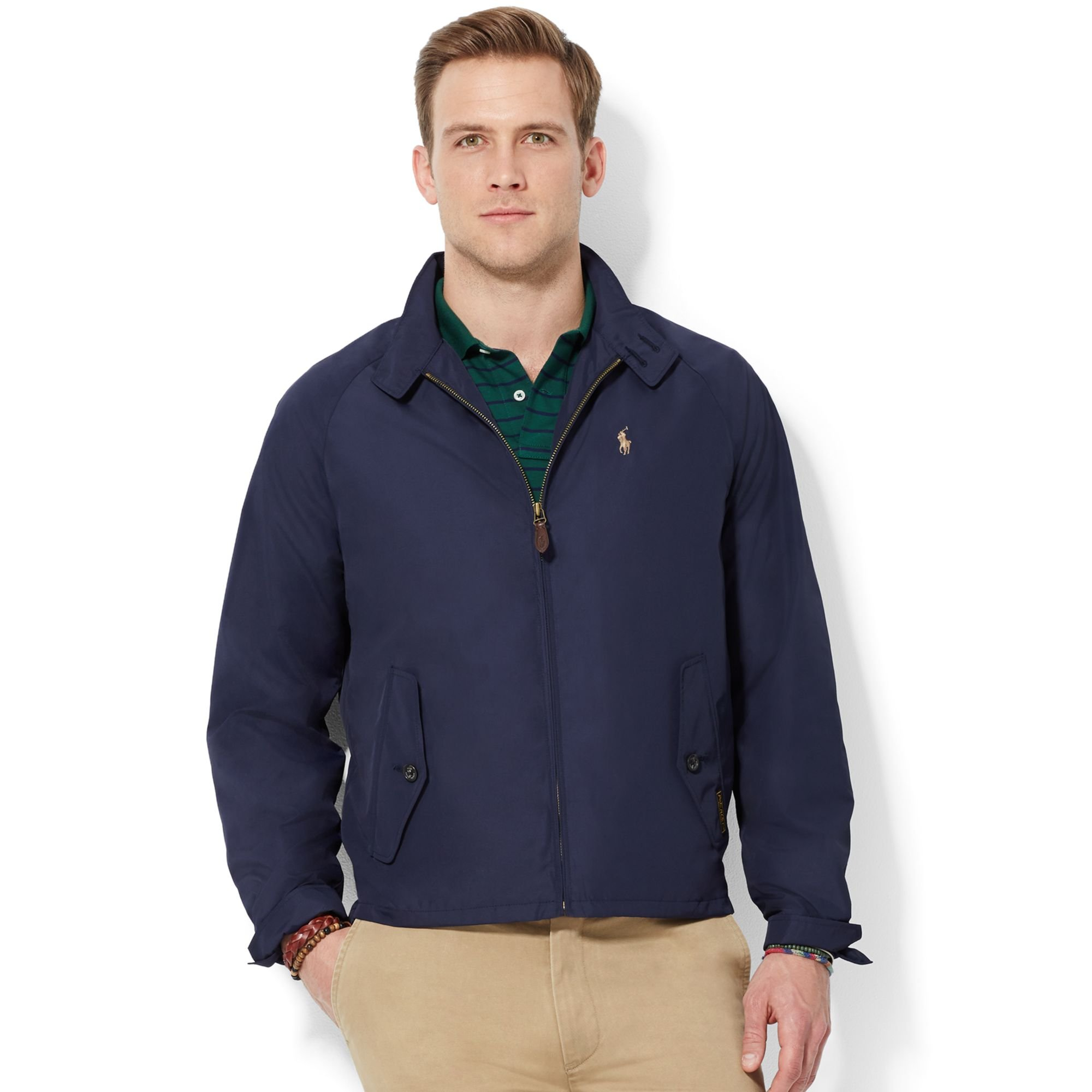 polo ralph lauren chester packable jacket in blue for men. Black Bedroom Furniture Sets. Home Design Ideas