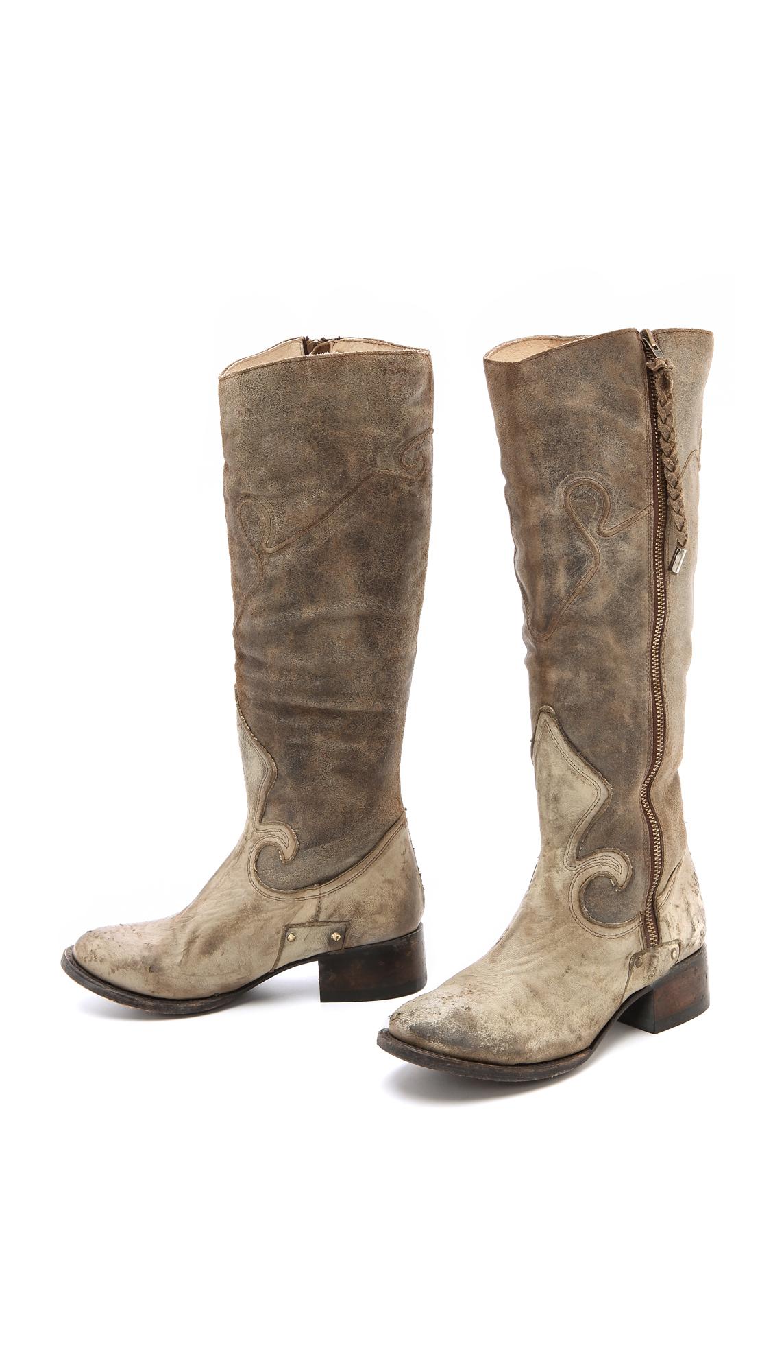 Freebird By Steven Berlin Western Tall Boots In Brown Lyst