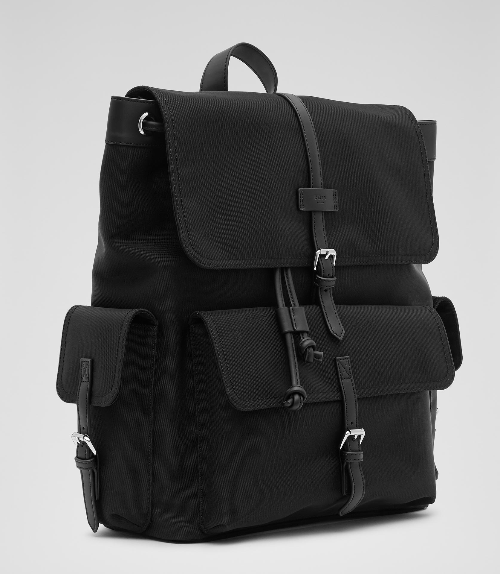 Reiss Sydney Textured Backpack in Black for Men | Lyst