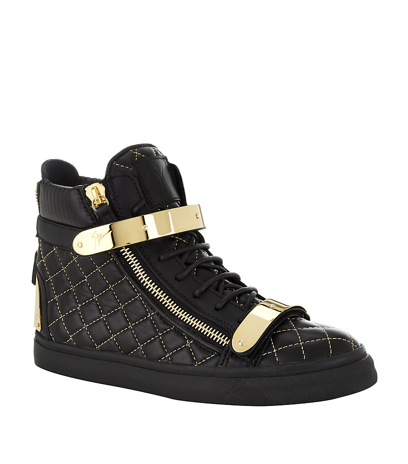 f55f4b6fc63 Giuseppe Zanotti Amazon High Top Sneaker in Black - Lyst
