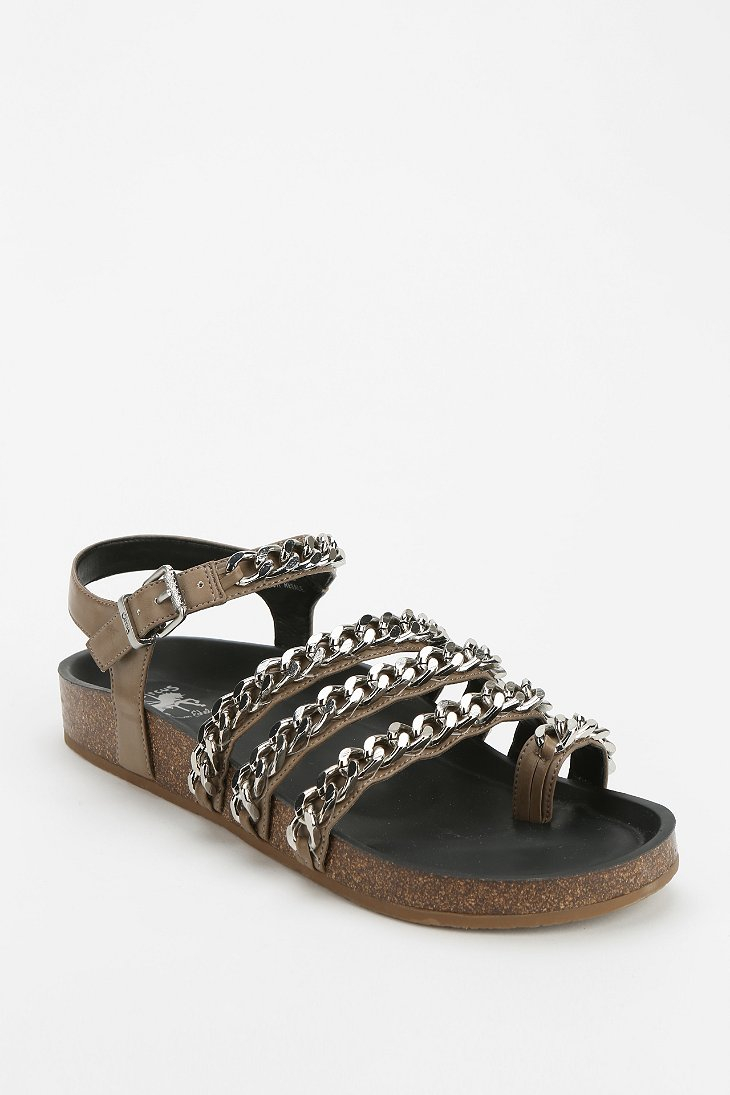 Circus By Sam Edelman Alex Chain Toehold Sandal In Brown