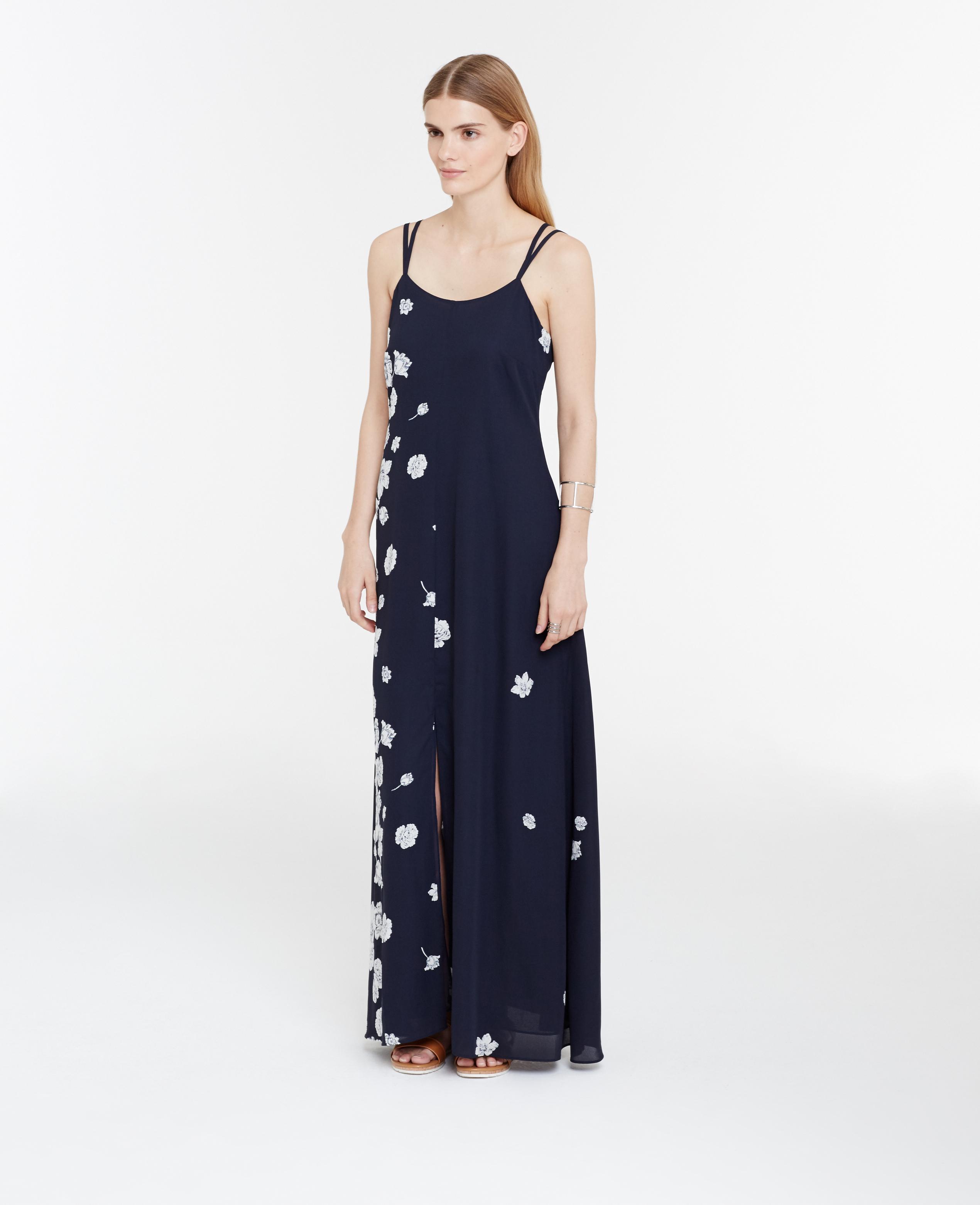 Lyst Ann Taylor Tall Stenciled Floral Maxi Dress In Blue