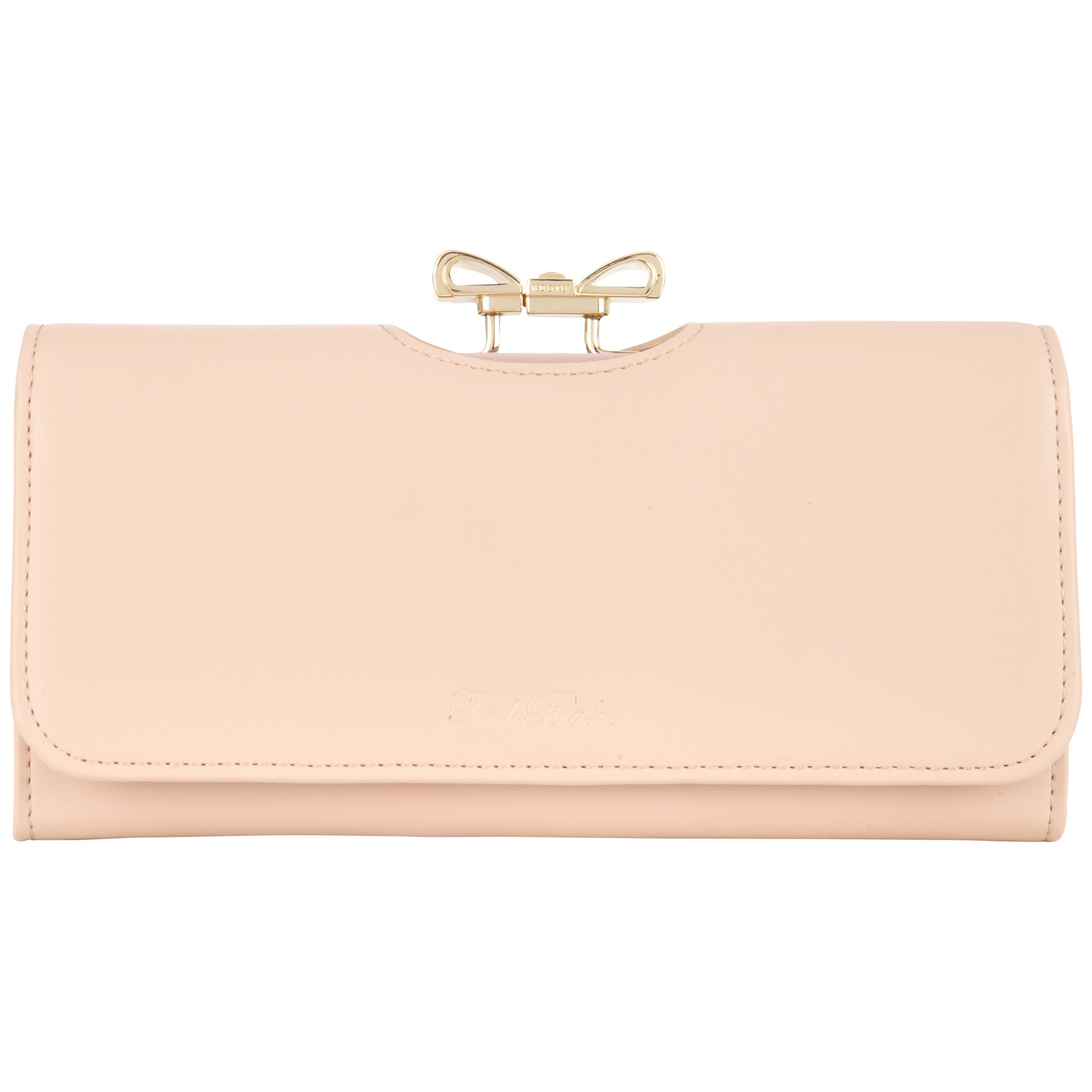 9cf4fff26b2dd Ted Baker Kikkie Crystal Bow Leather Matinee Purse in Pink - Lyst