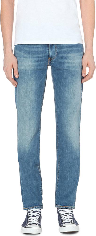 levi 39 s 511 slim fit stretch denim jeans in blue for men lyst. Black Bedroom Furniture Sets. Home Design Ideas