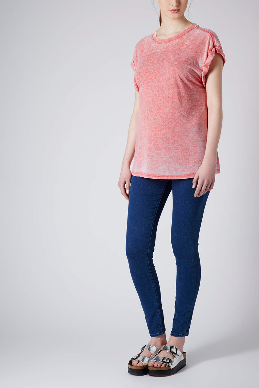 1032a63fcfc1b TOPSHOP Maternity Moto Joni Jeans in Blue - Lyst