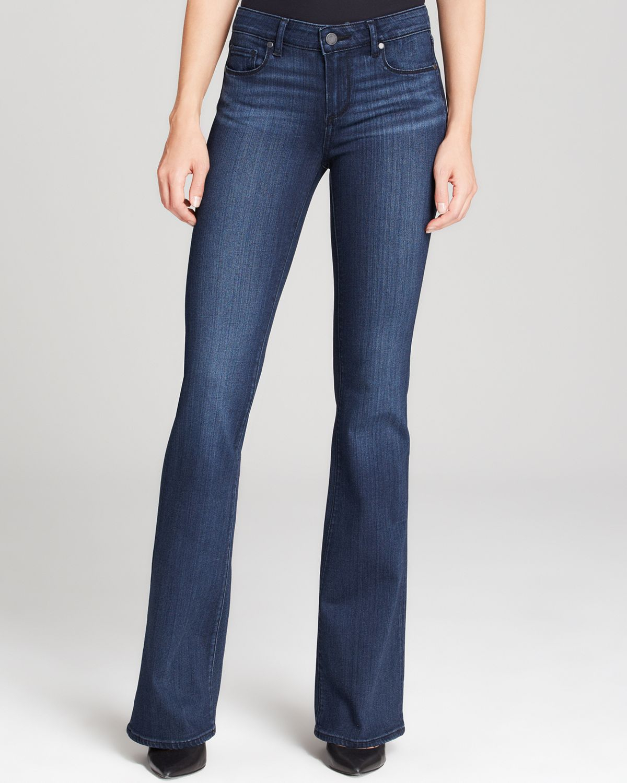 Paige Transcend Skyline Bootcut Jeans In Valor In Blue Valor Lyst