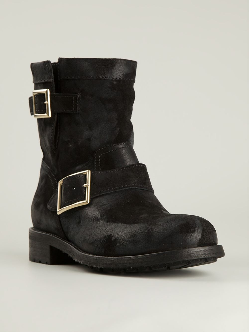 Jimmy Choo Youth Biker Boots in Black