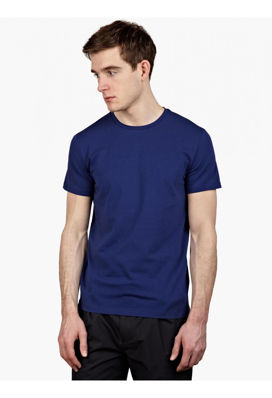 Jil sander men 39 s blue stretch cotton t shirt in blue for for Jil sander mens shirt