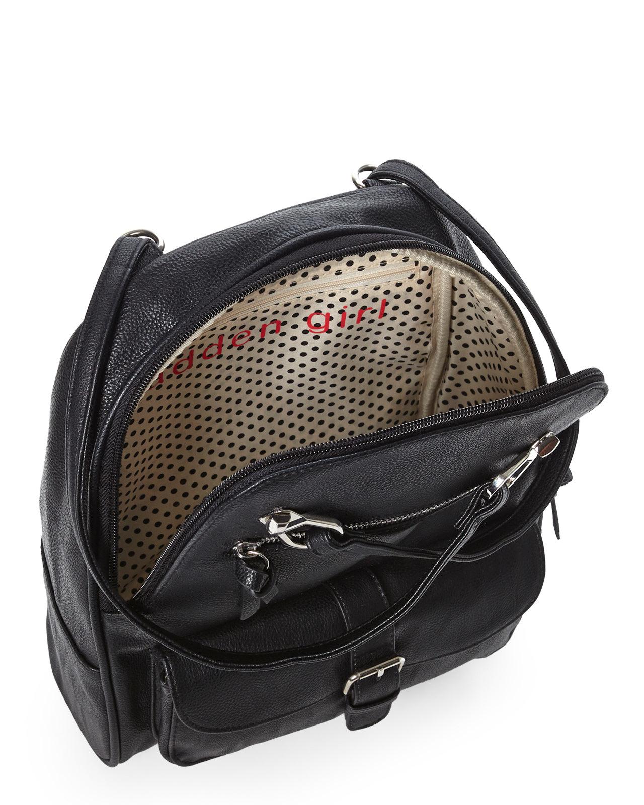 Madden girl Black Mg Twill Backpack in Black | Lyst