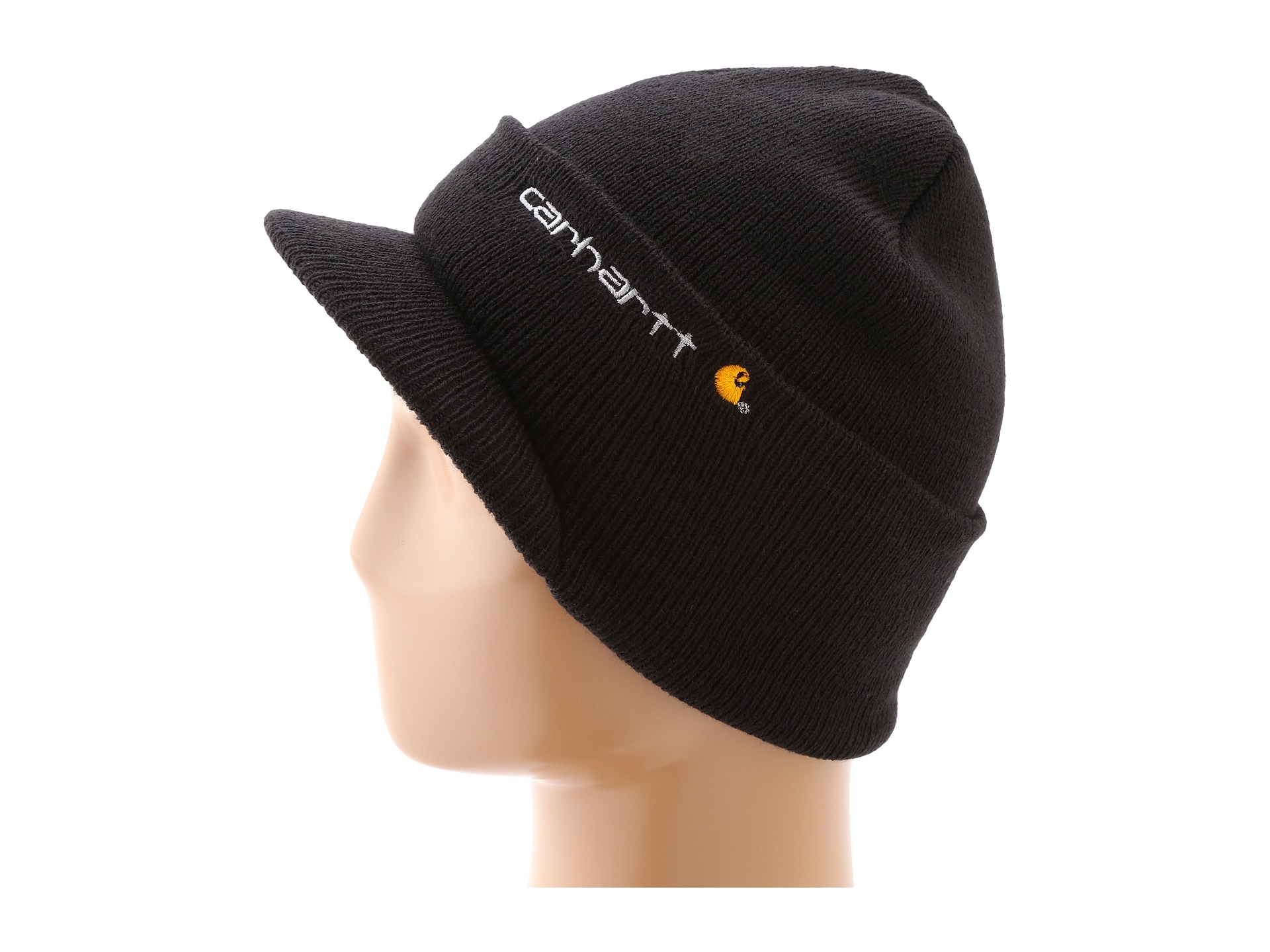 6ced20904ea Lyst - Carhartt Knit Hat With Visor in Black for Men