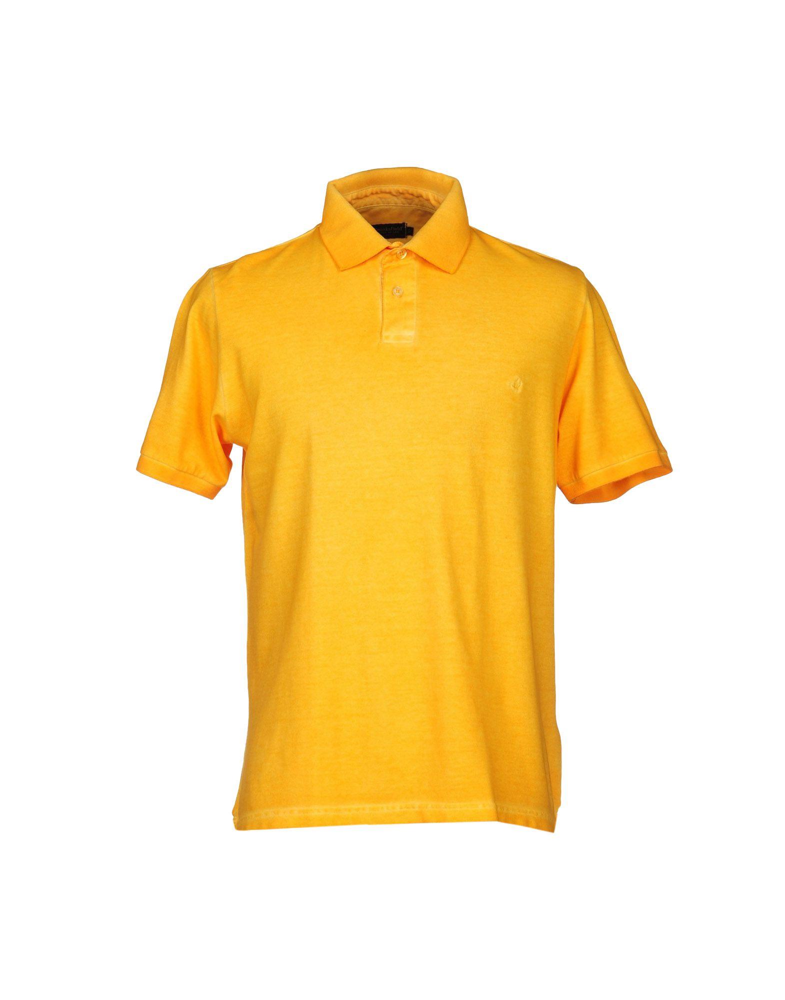 Brooksfield polo shirt in orange for men lyst for Orange polo shirt mens