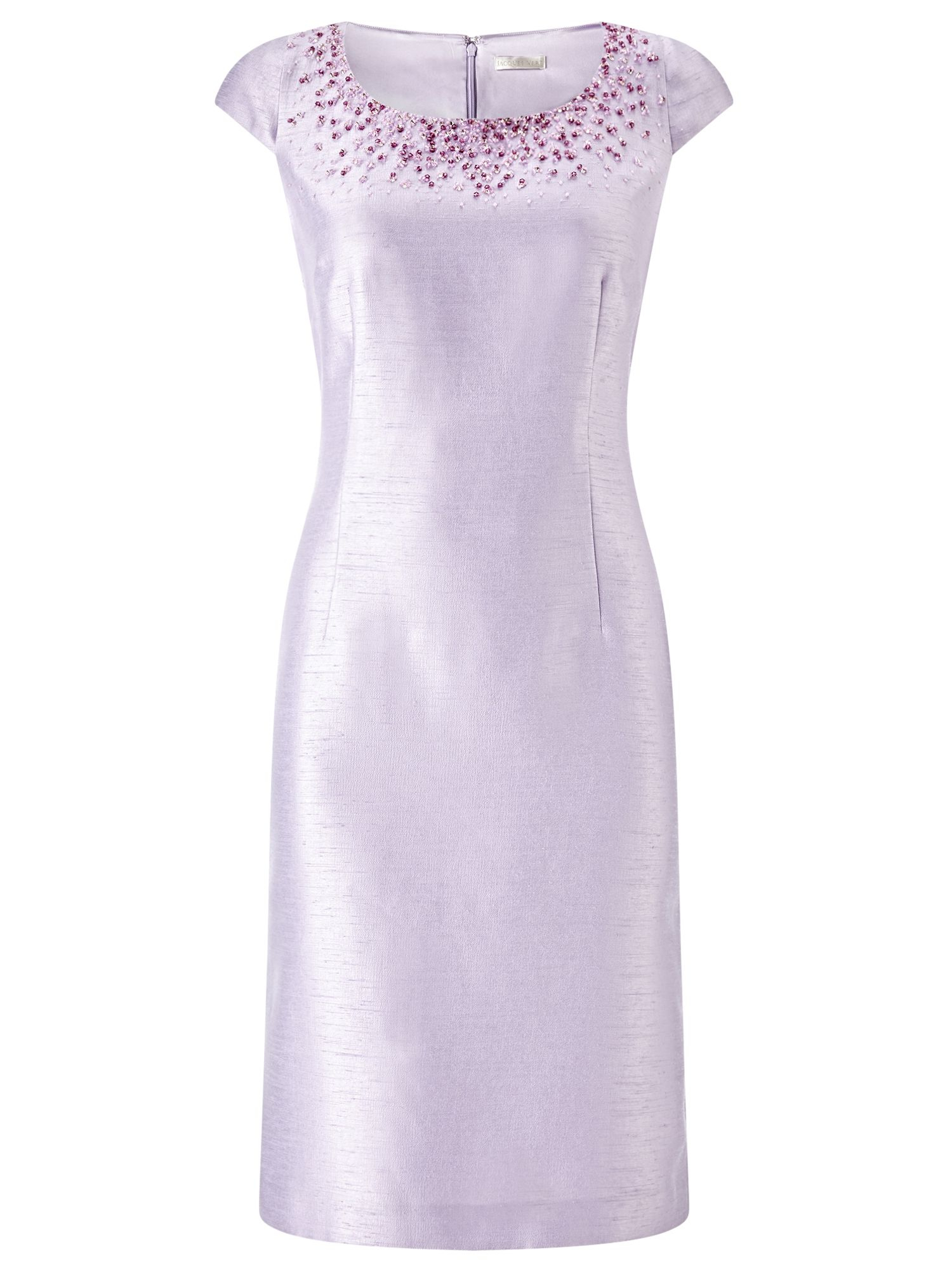 Jacques vert Bead Embellished Shift Dress in Purple