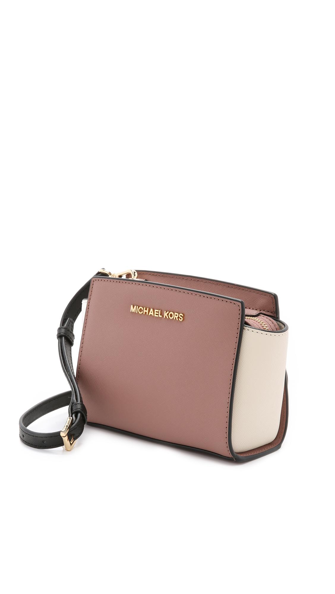 32cc36af2f Lyst - MICHAEL Michael Kors Selma Mini Color-Blocked Cross-Body Bag ...
