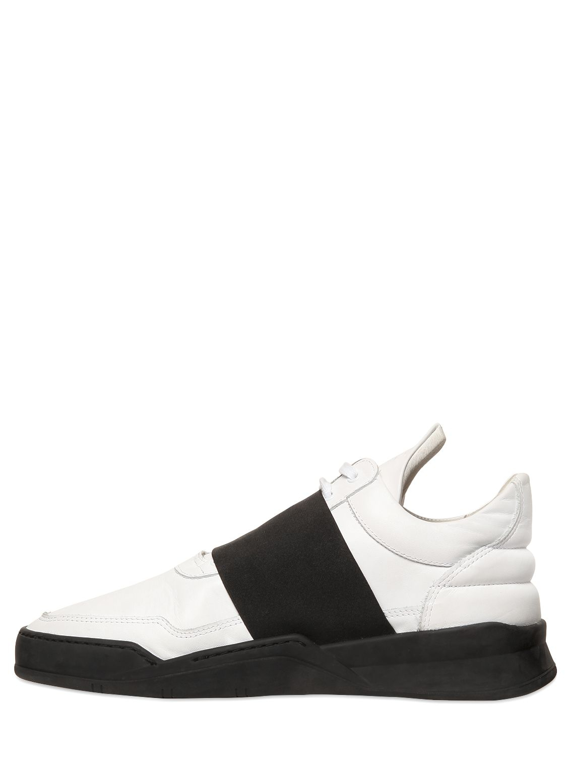 Lyst - Filling Pieces Elastic Band Leather Sneakers in Black for Men