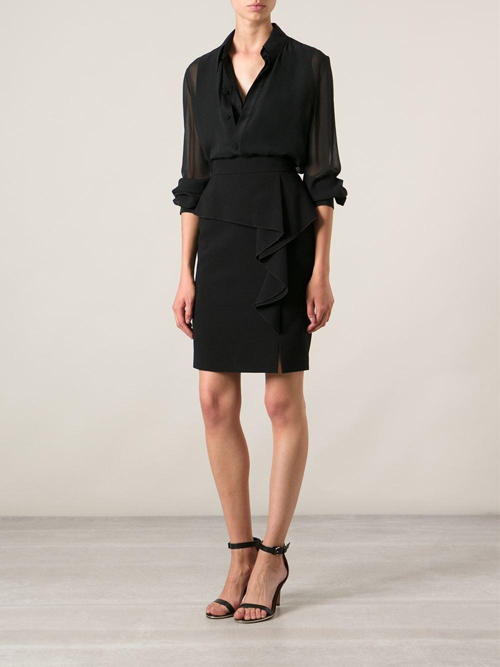 Emilio Pucci Black Side Ruffle Dress View Fullscreen Emilio Pucci