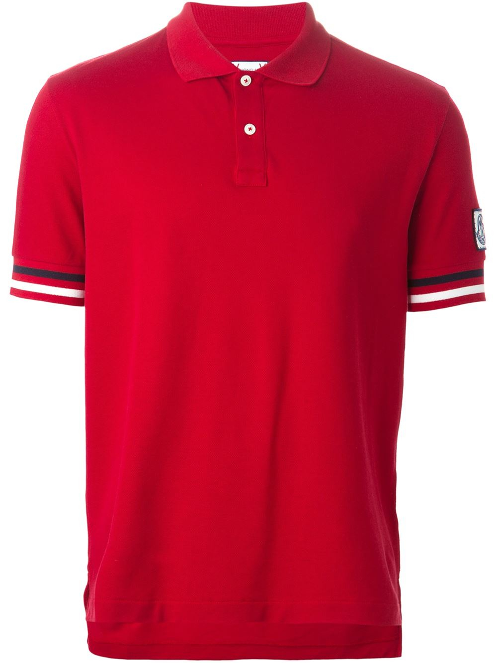 Moncler Gamme Bleu Classic Polo Shirt In Red For Men Lyst