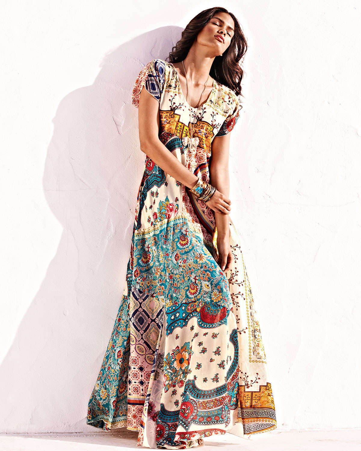 Lyst Johnny Was Long Patchwork Dress