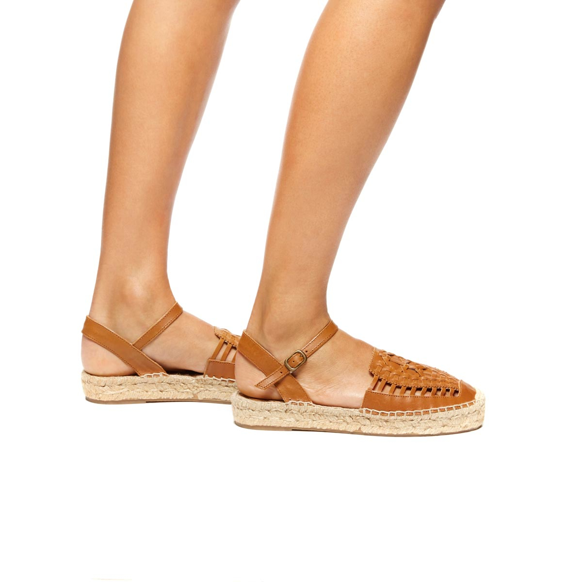 0871633b2956 Lyst - Soludos Leather Platform Huarache Sandal in Brown