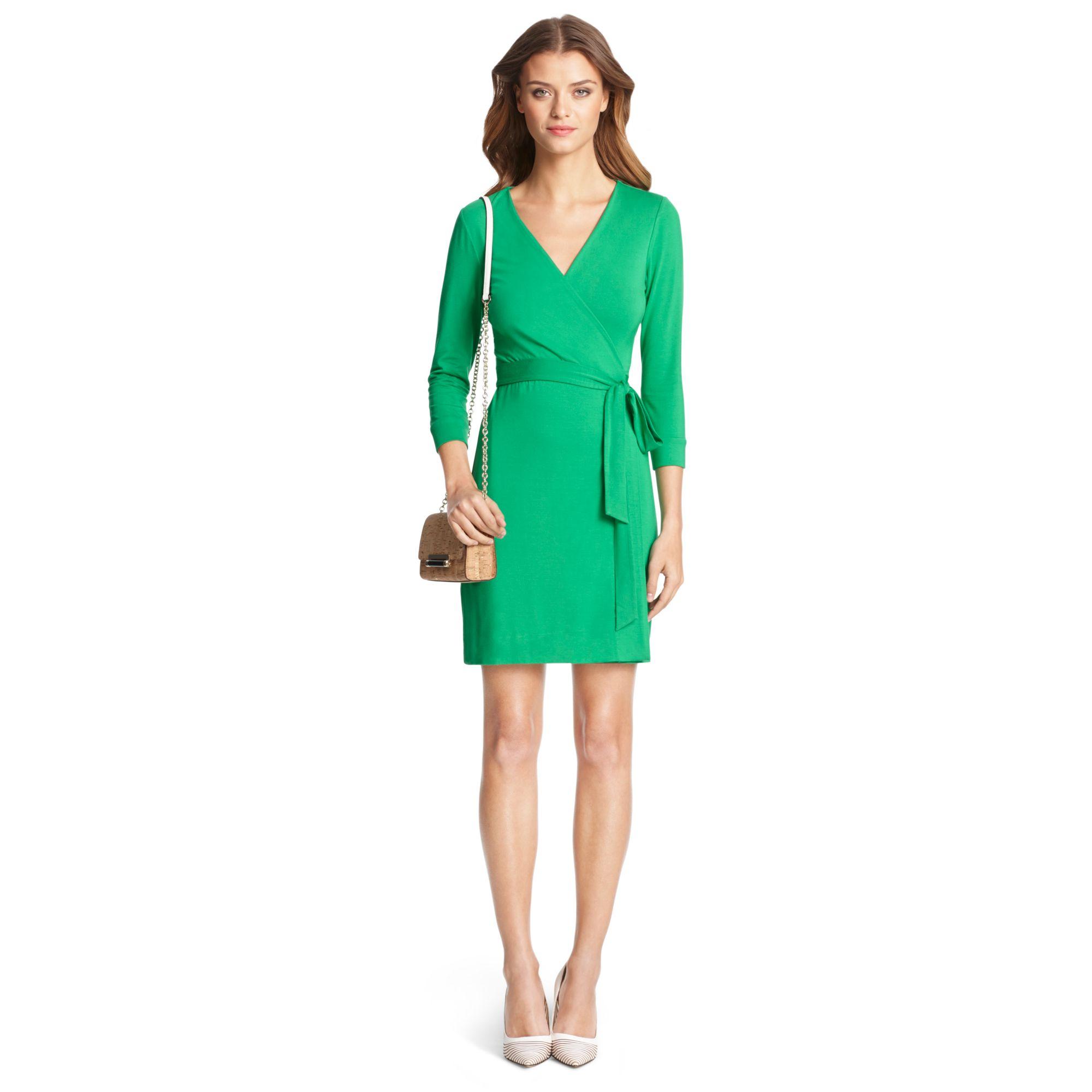 205936b7b3eb Lyst - Diane von Furstenberg New Julian Two Mini Jersey Wrap Dress ...