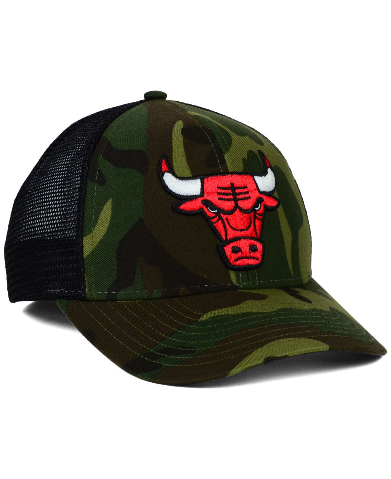 45a22232f01b8 ... new arrivals lyst adidas chicago bulls camo trucker cap in green for men  0c267 606da
