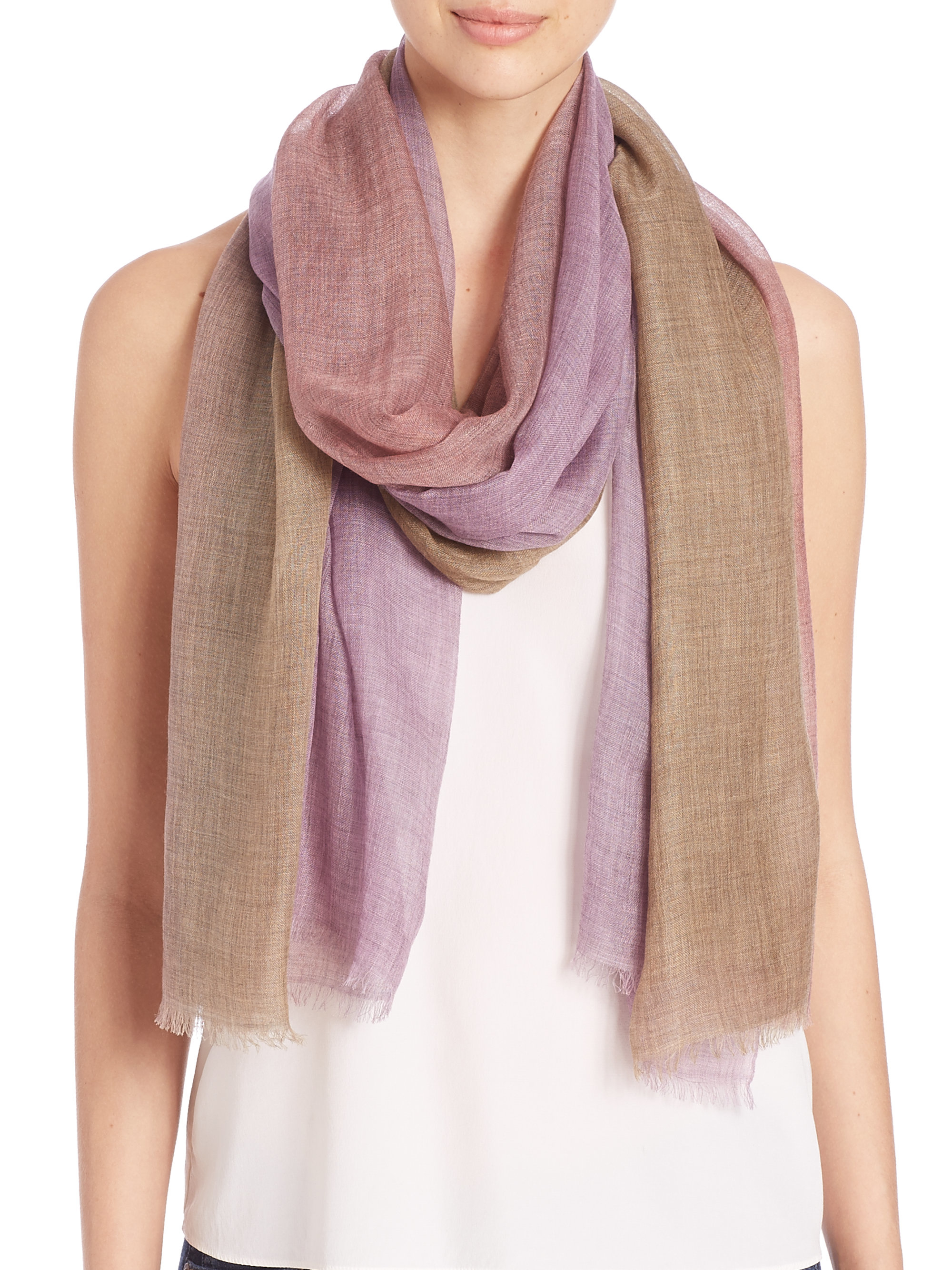 bajra leno ombre scarf in pink lyst