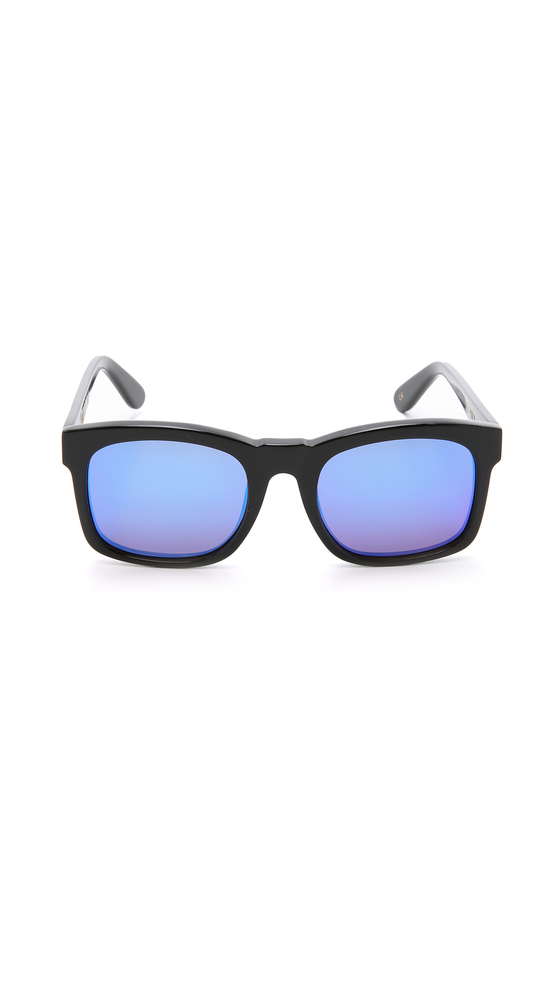 3aa8eda6ff Wildfox Gaudy Deluxe Sunglasses - Black Blue Mirror in Black - Lyst