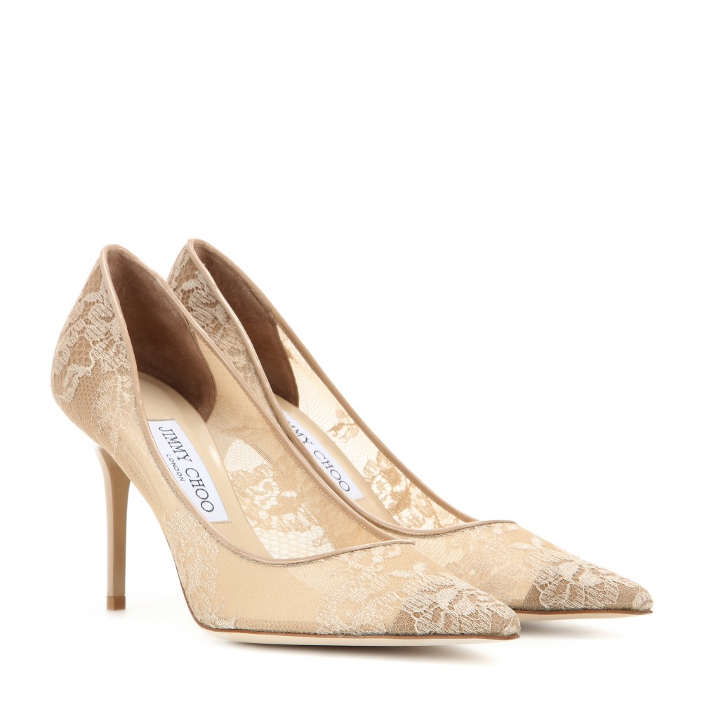 Jimmy Choo Lace Wedding Shoes
