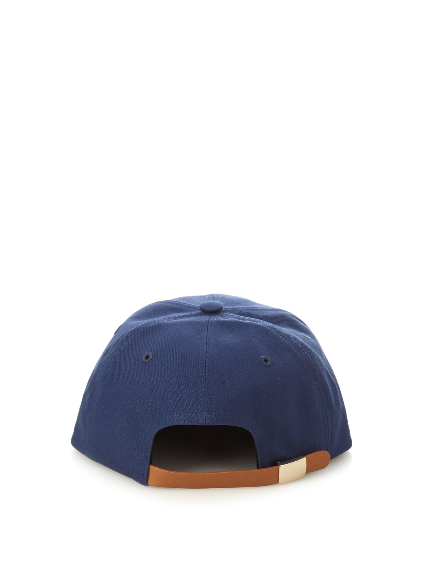 a54def1e072a2d Maison Kitsuné Logo-embroidered Baseball Cap in Blue for Men - Lyst