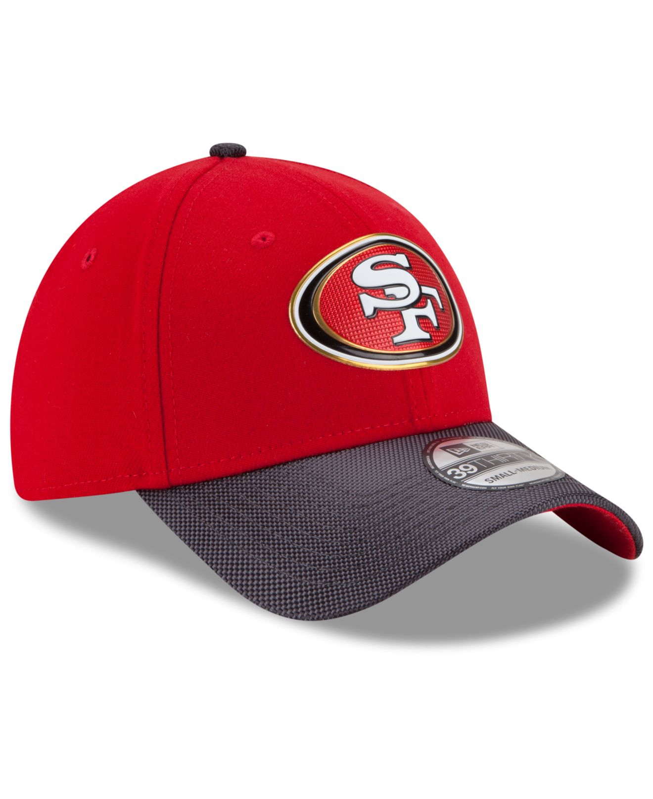 info for 1b943 2cdfc KTZ San Francisco 49ers Gold Collection On-field 39thirty Cap in Red ...